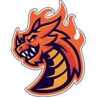 Наклейка Дракон в огне, фото 1