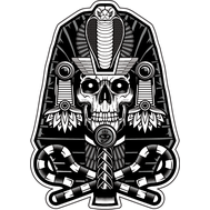 Наклейка Череп Фараона, фото 1