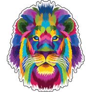 Наклейка Кислотный Лев, фото 1