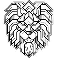 Наклейка Кибер-Лев, фото 1