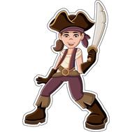 Наклейка Девочка Пират, фото 1