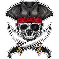 Наклейка Череп пирата, фото 1