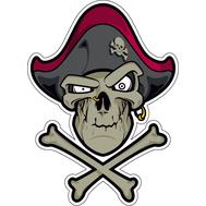 Наклейка Пиратский череп, фото 1