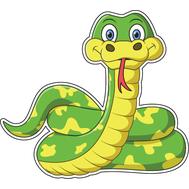Наклейка Змейка, фото 1