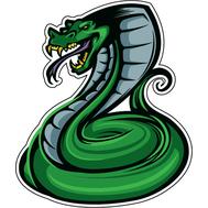 Наклейка Зеленая кобра, фото 1
