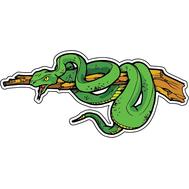 Наклейка Змея на ветке, фото 1
