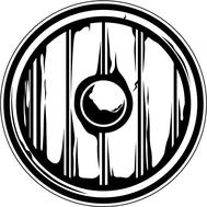 Наклейка Щит викинга, фото 1