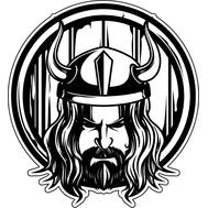 Наклейка Викинг на щите, фото 1