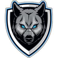 Наклейка Волк на щите, фото 1