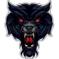 Наклейка Волк-оборотень, фото 1