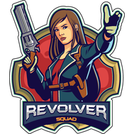 Наклейка Revolver squad, фото 1