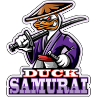 Наклейка Duck Samurai, фото 1