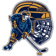 Наклейка Шлем и хоккеист, фото 1