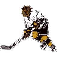 Наклейка Хоккеист в Бело-черной форме, фото 1