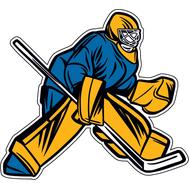 Наклейка Вратарь в сине-желтой форме, фото 1