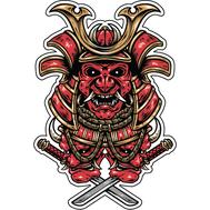Наклейка Клыкастый самурай, фото 1