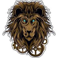 Наклейка Лев в пенсне, фото 1