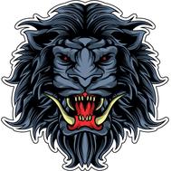 Наклейка Лев с длинными клыками, фото 1