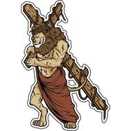 Наклейка Лев тащит крест, фото 1