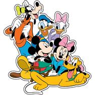 Наклейка Гуфи, Дональд Дак, Дейзи Дак, Микки Маус, Минни Маус и Плуто, фото 1