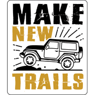 Наклейка Make new trails, фото 1