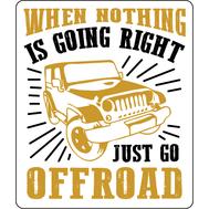 Наклейка Just go Offroad, фото 1