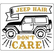 Наклейка Jeep hair don't care, фото 1