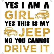 Наклейка Yes I am a girl, фото 1