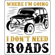 Наклейка I don't need roads, фото 1