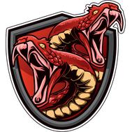 Наклейка Две змеи, фото 1