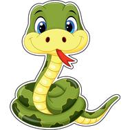Наклейка Маленький змееныш, фото 1