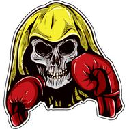 Наклейка Череп боксера, фото 1