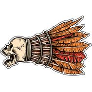 Наклейка Череп-валанчик, фото 1