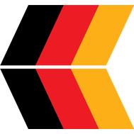 Комплект из 2 наклеек с флагом германии, фото 1