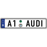 Наклейка Евро-номер AUDI A-серии, фото 1