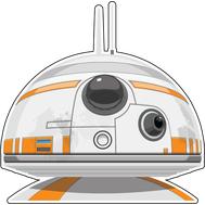 Наклейка Star Wars BB-8, фото 1