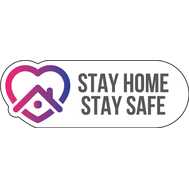 Наклейка Stay Home. Stay Safe, фото 1