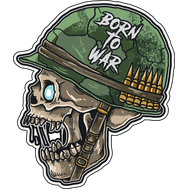Наклейка Born to War, фото 1
