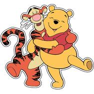Наклейка Винни Пух и Тигра, фото 1