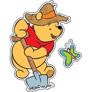Наклейка Винни Пух с лопатой, фото 1