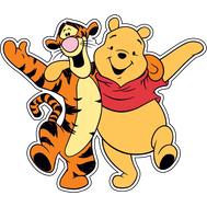 Наклейка Тигра и Винни Пух, фото 1