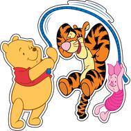 Наклейка Винни, Тигра и Пятачок, фото 1