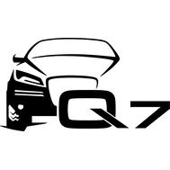 Наклейка Audi Q7, фото 1