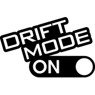 Наклейка Drift mode ON, фото 1