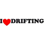 Наклейка I love drifting, фото 1