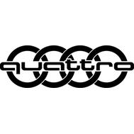 Наклейка Audi Quattro, фото 1