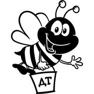 Наклейка Пчелка ДТ, фото 1