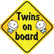 Наклейка Twins on board, фото 1