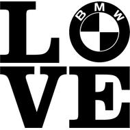 Наклейка Love BMW, фото 1