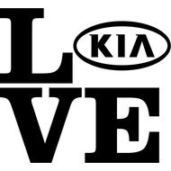 Наклейка Love Kia, фото 1